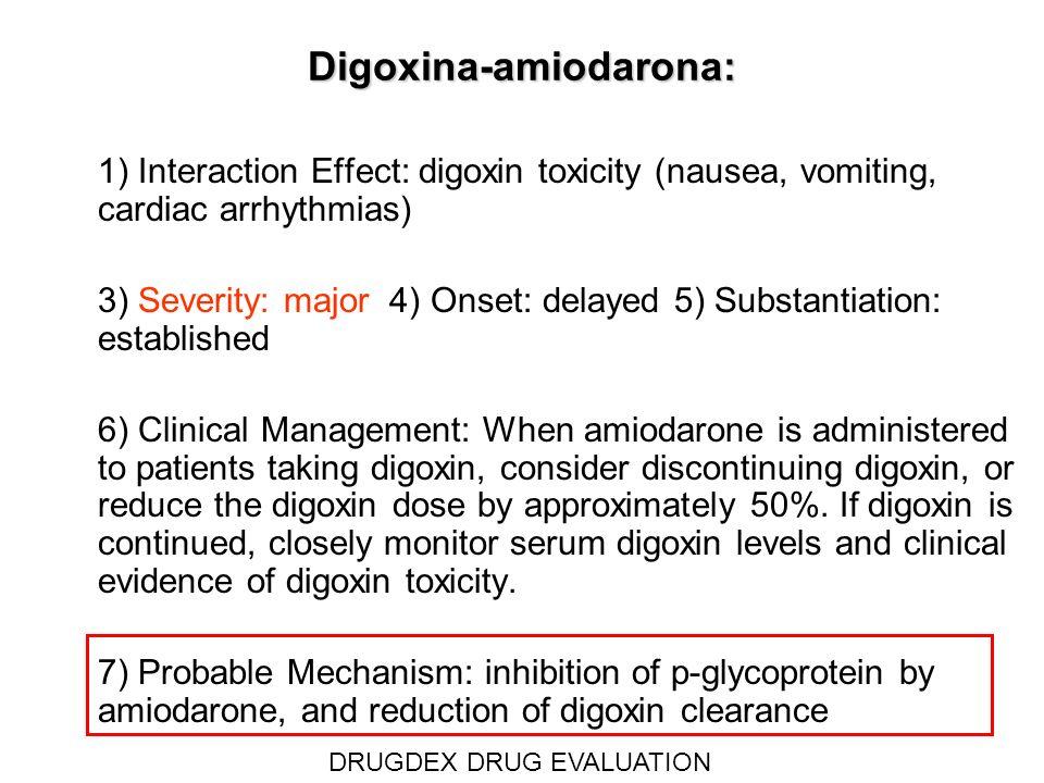 Digoxina-amiodarona:
