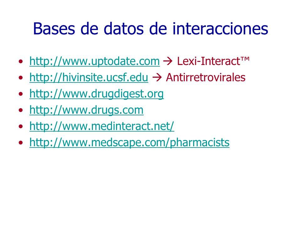 Bases de datos de interacciones