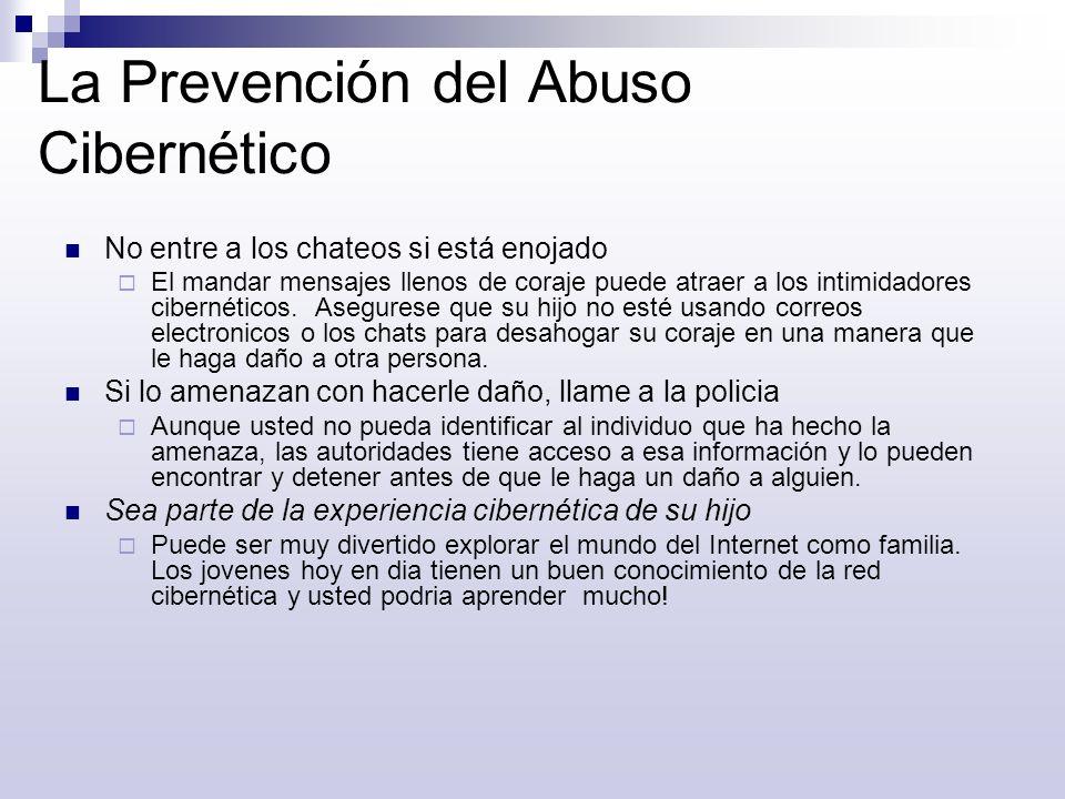 La Prevención del Abuso Cibernético