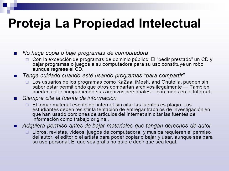Proteja La Propiedad Intelectual