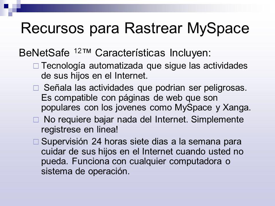 Recursos para Rastrear MySpace