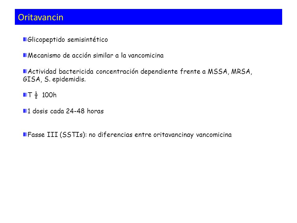 Oritavancin Glicopeptido semisintético