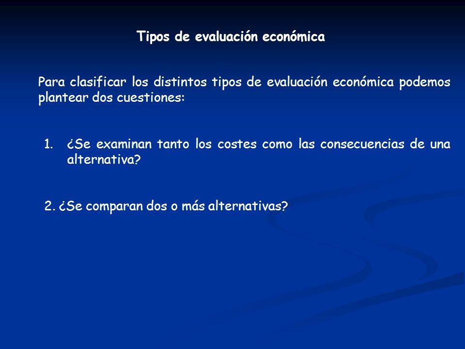 Tipos de evaluación económica