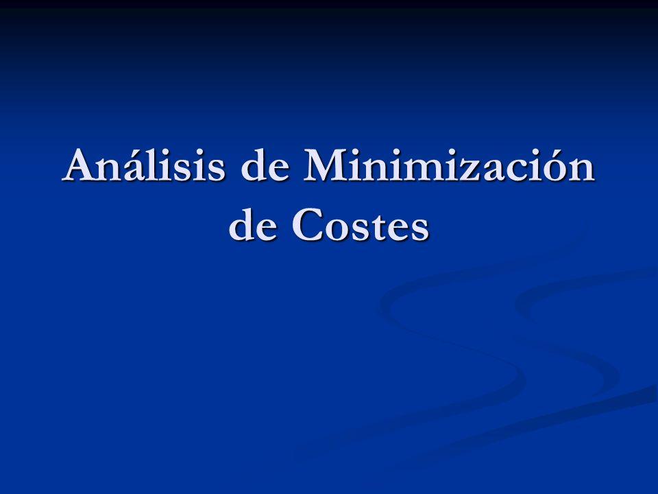 Análisis de Minimización de Costes