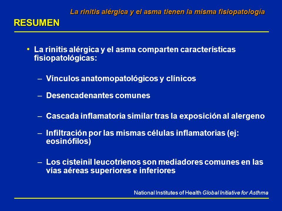 La rinitis alérgica y el asma tienen la misma fisiopatología RESUMEN