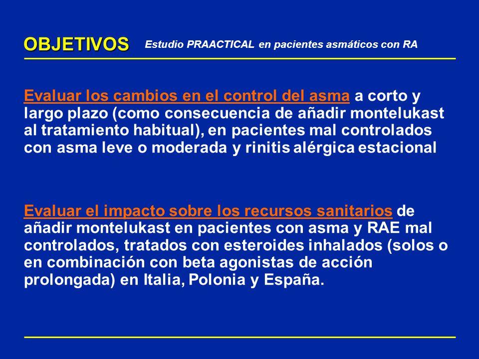 Estudio PRAACTICAL en pacientes asmáticos con RA