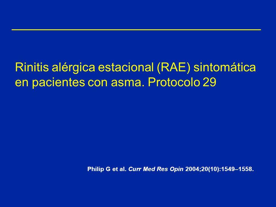 Rinitis alérgica estacional (RAE) sintomática en pacientes con asma