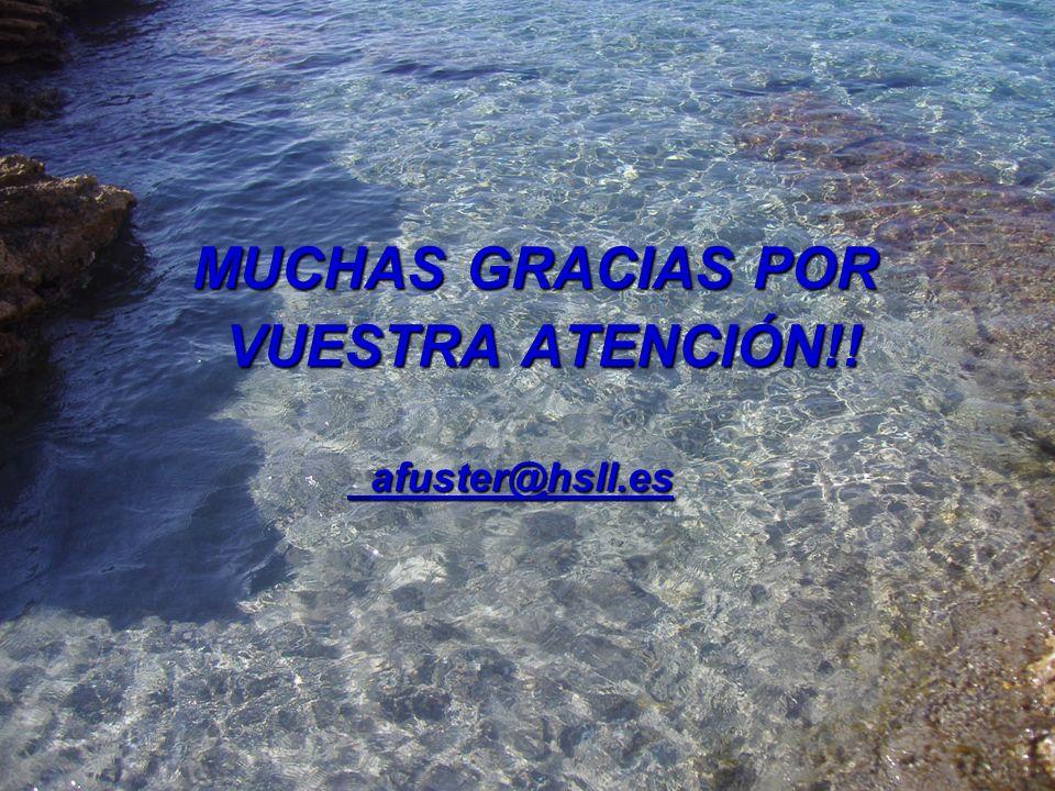 MUCHAS GRACIAS POR VUESTRA ATENCIÓN!! afuster@hsll.es