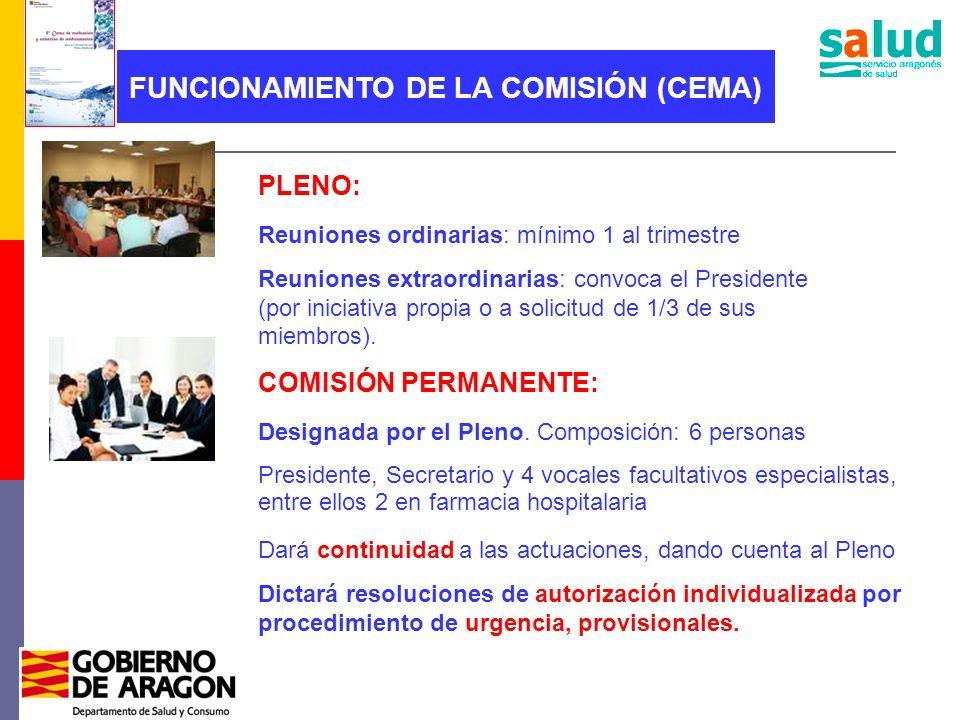 FUNCIONAMIENTO DE LA COMISIÓN (CEMA)