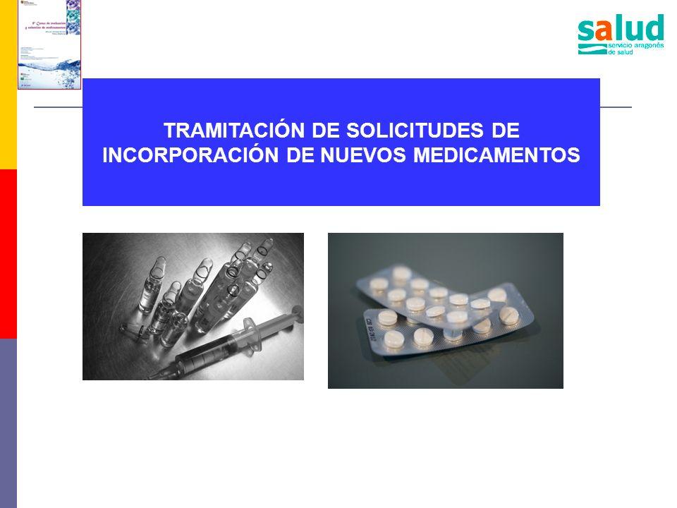 TRAMITACIÓN DE SOLICITUDES DE INCORPORACIÓN DE NUEVOS MEDICAMENTOS
