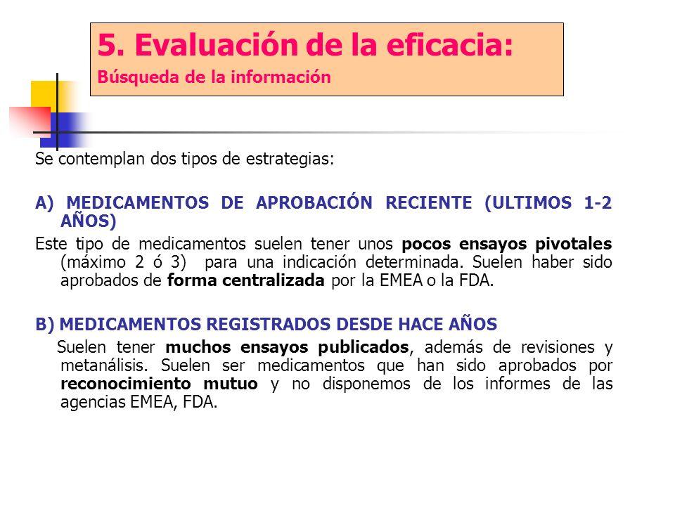 5. Evaluación de la eficacia: