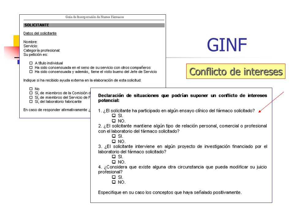 GINF Conflicto de intereses