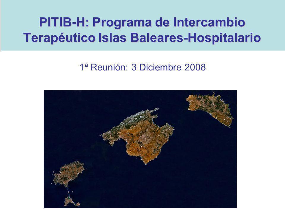 PITIB-H: Programa de Intercambio Terapéutico Islas Baleares-Hospitalario