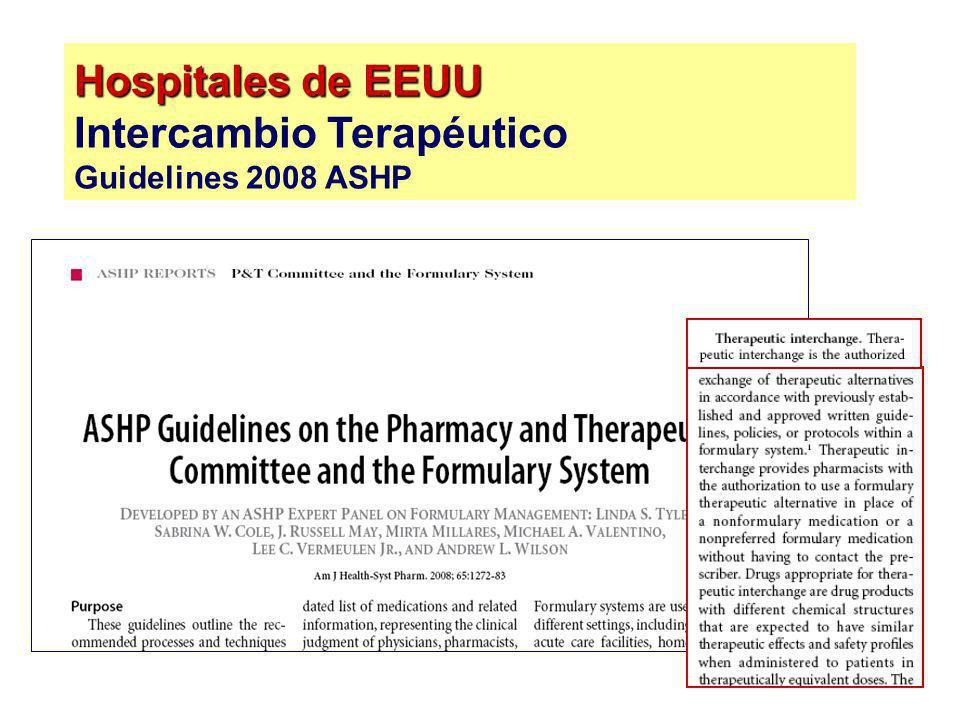 Hospitales de EEUU Intercambio Terapéutico