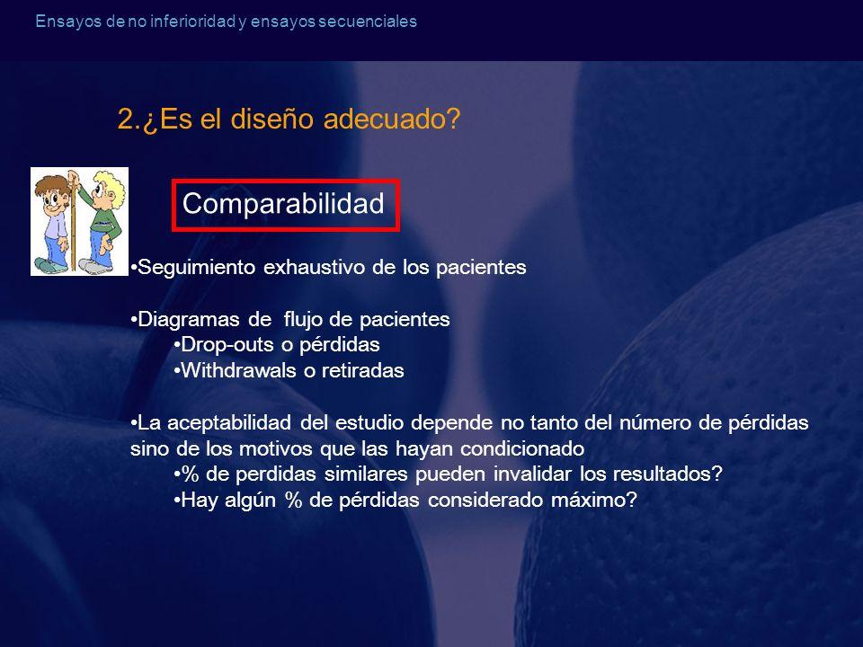 2.¿Es el diseño adecuado Comparabilidad