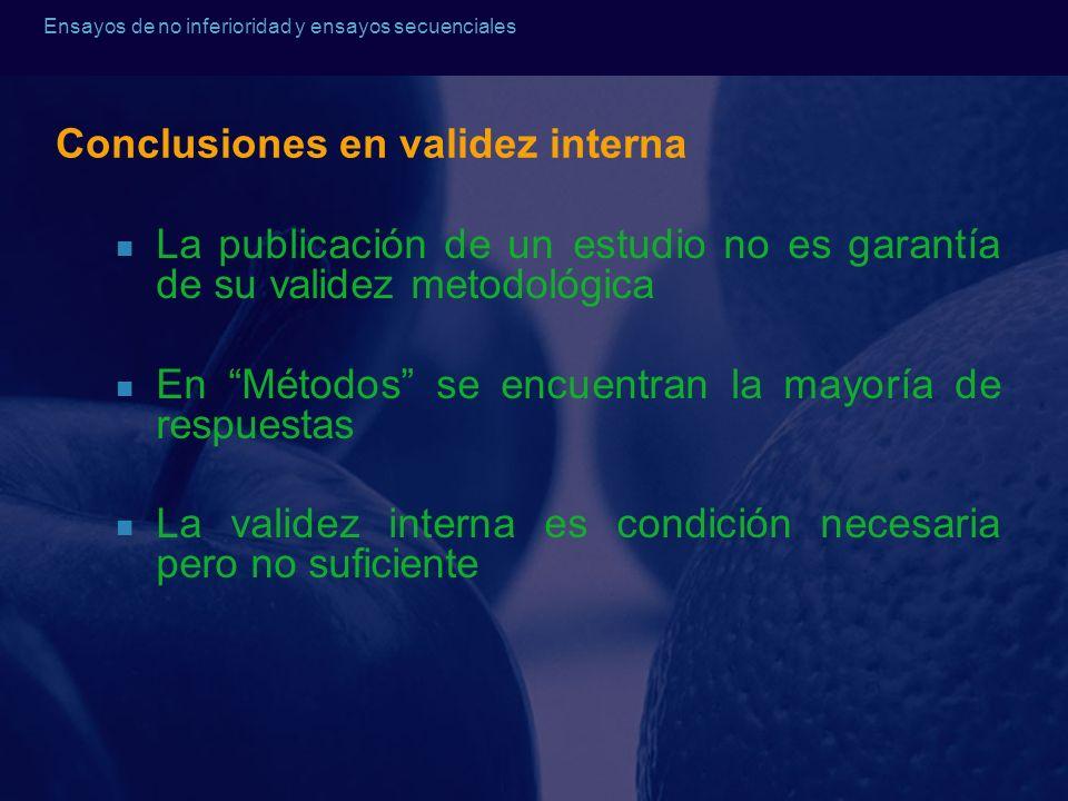 Conclusiones en validez interna