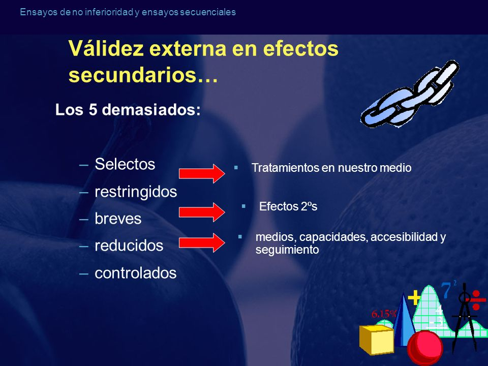 Válidez externa en efectos secundarios…
