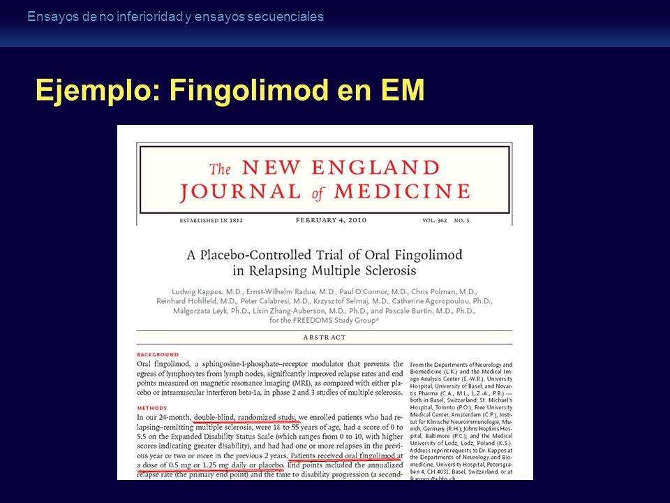 Ejemplo: Fingolimod en EM