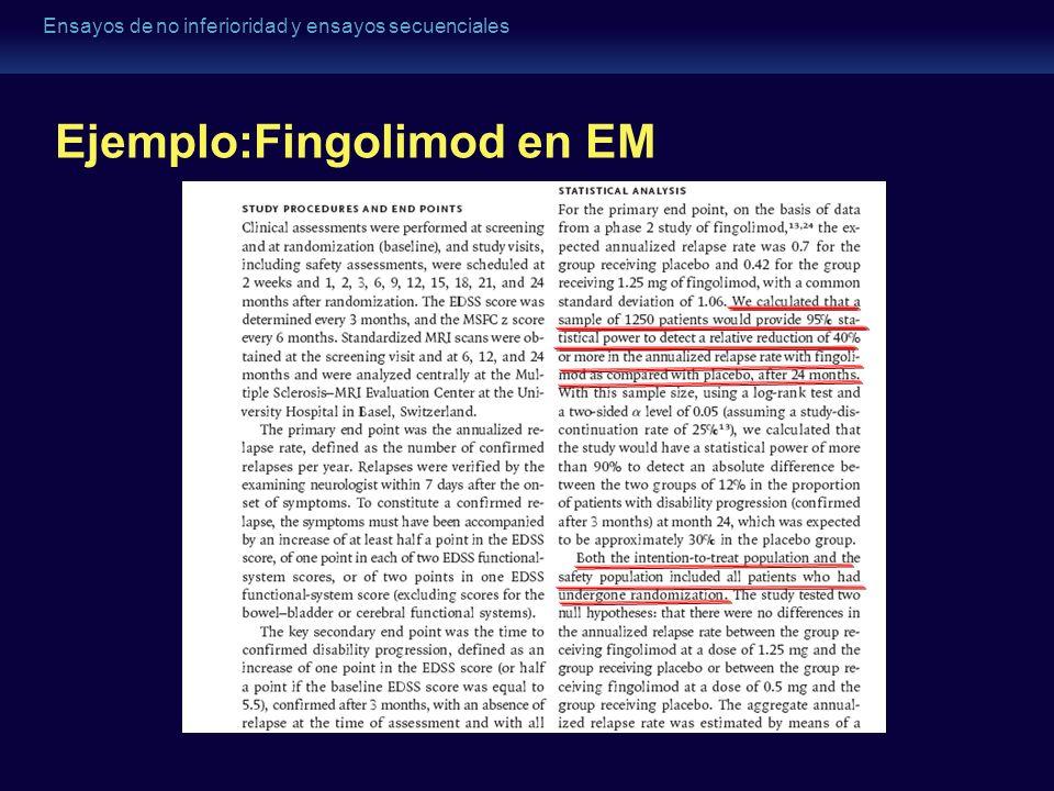 Ejemplo:Fingolimod en EM