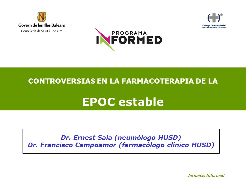 EPOC estable CONTROVERSIAS EN LA FARMACOTERAPIA DE LA