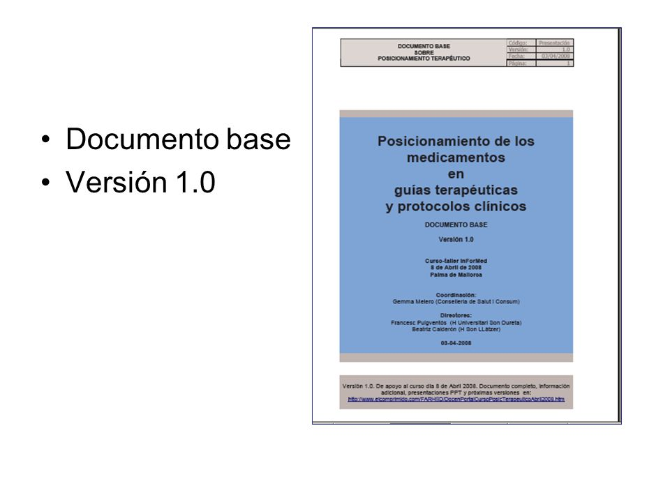 Documento base Versión 1.0