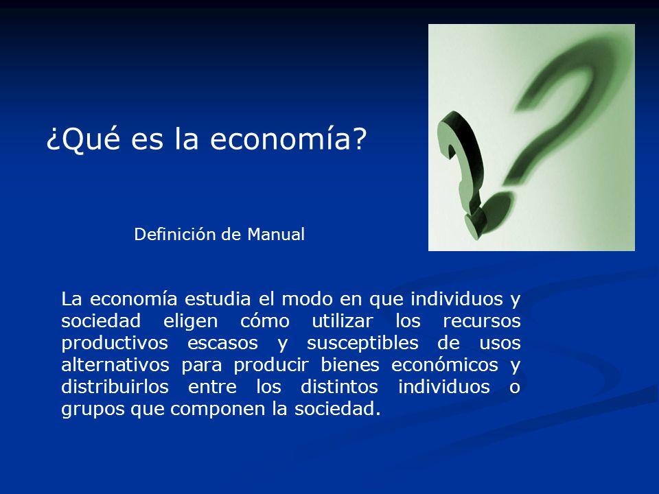 ¿Qué es la economía Definición de Manual.