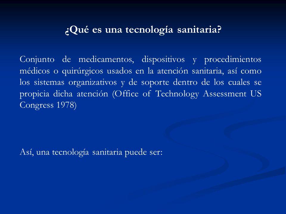 ¿Qué es una tecnología sanitaria