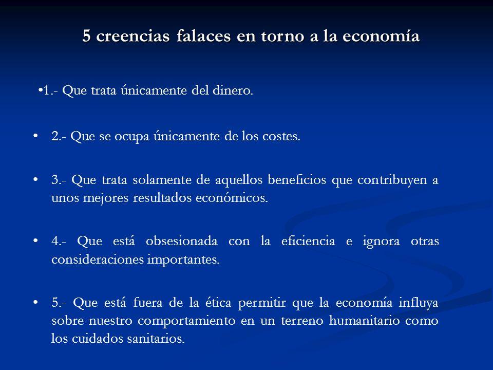 5 creencias falaces en torno a la economía