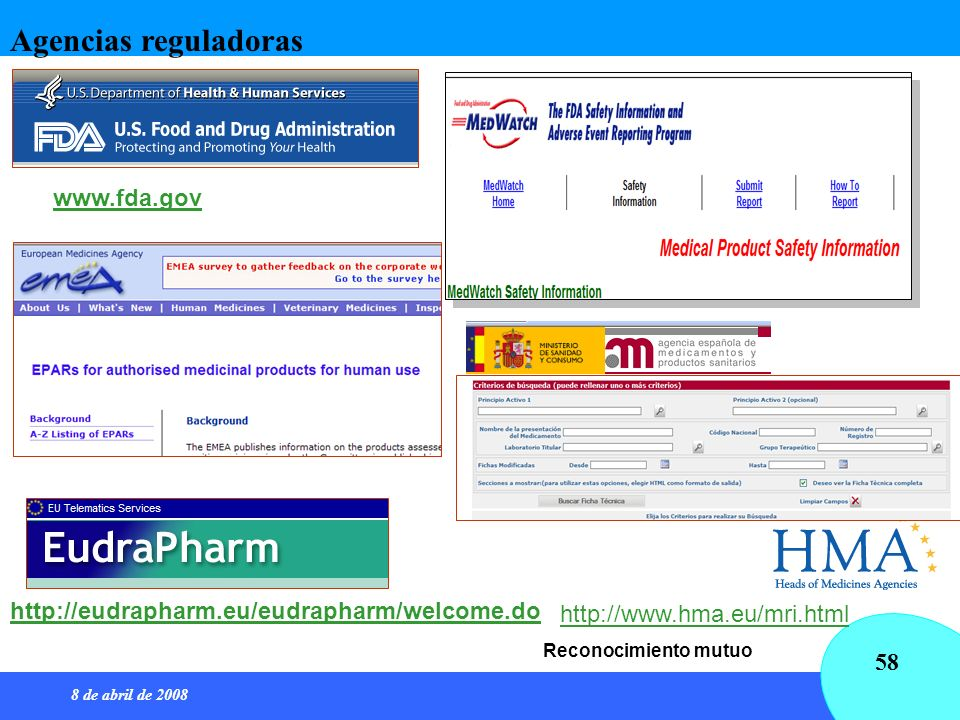 Agencias reguladoras www.fda.gov
