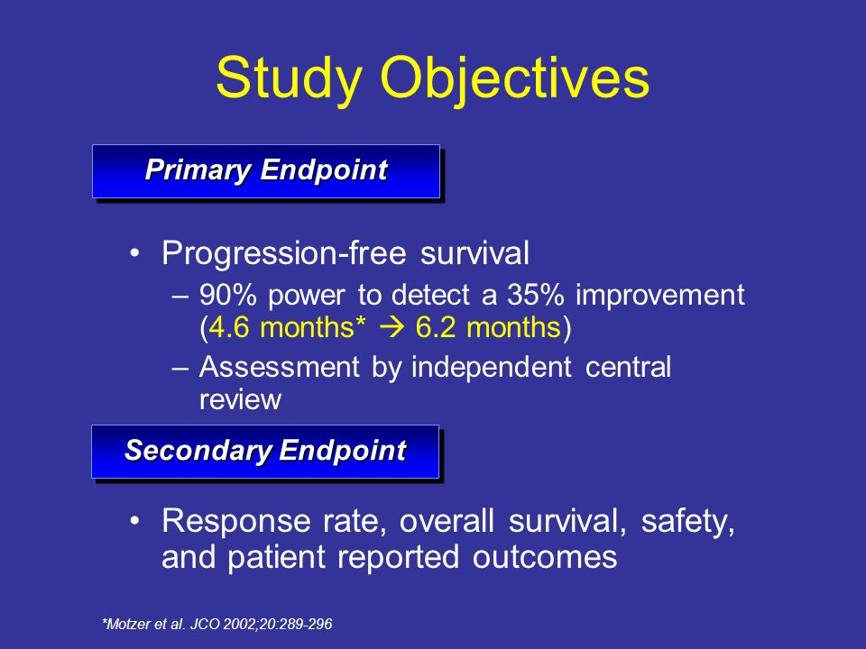 Study Objectives Progression-free survival