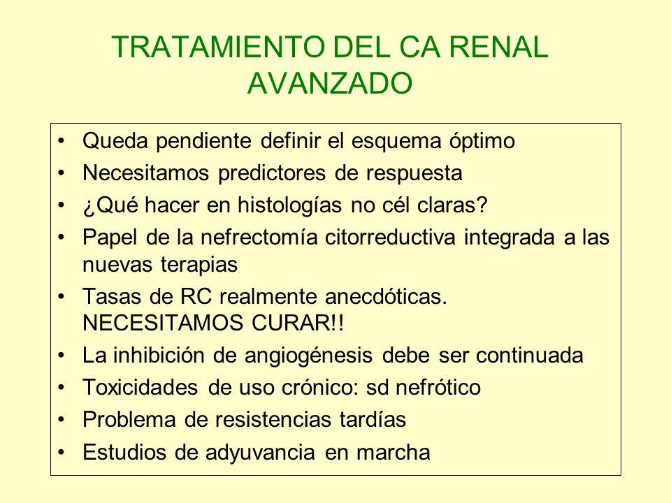 TRATAMIENTO DEL CA RENAL AVANZADO