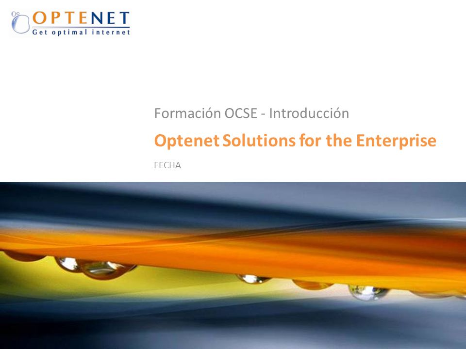 Optenet Solutions for the Enterprise
