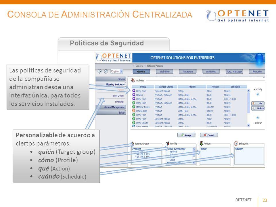 Consola de Administración Centralizada