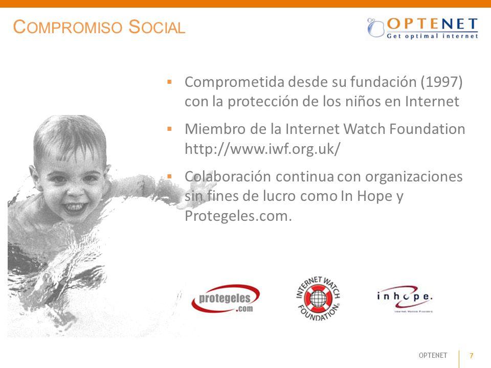 Compromiso Social Comprometida desde su fundación (1997) con la protección de los niños en Internet.