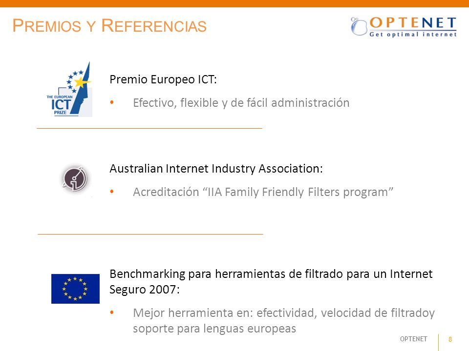 Premios y Referencias Premio Europeo ICT: