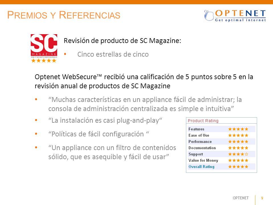 Premios y Referencias Revisión de producto de SC Magazine: