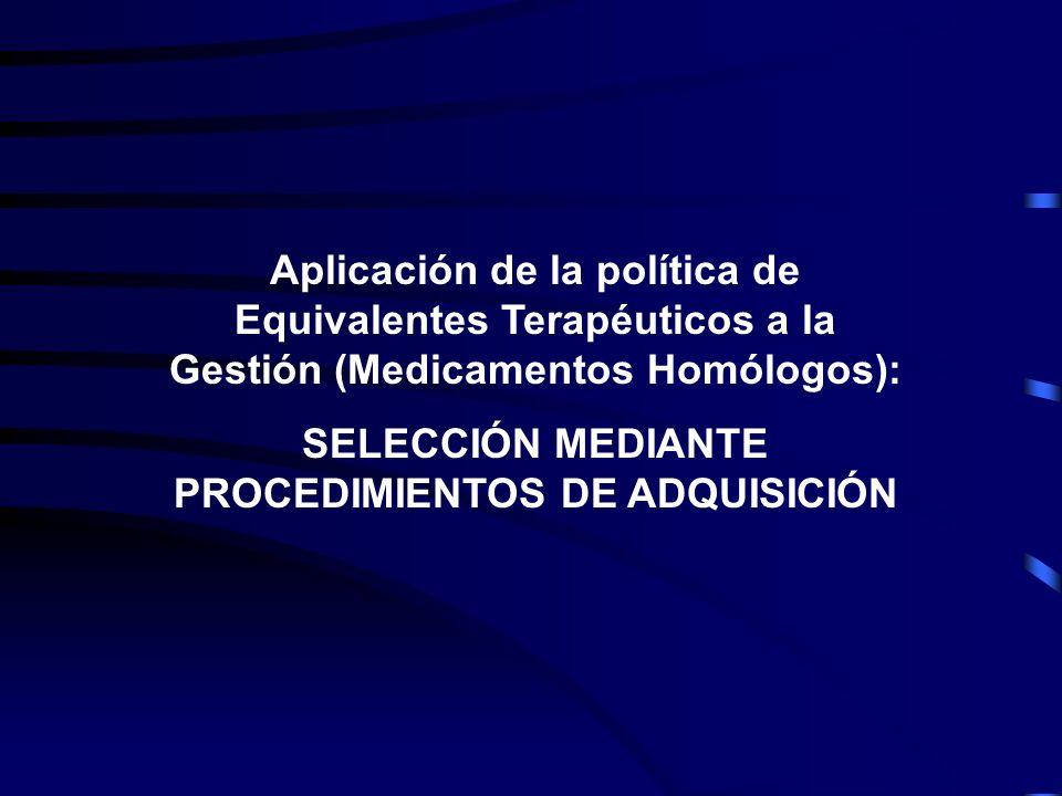 SELECCIÓN MEDIANTE PROCEDIMIENTOS DE ADQUISICIÓN