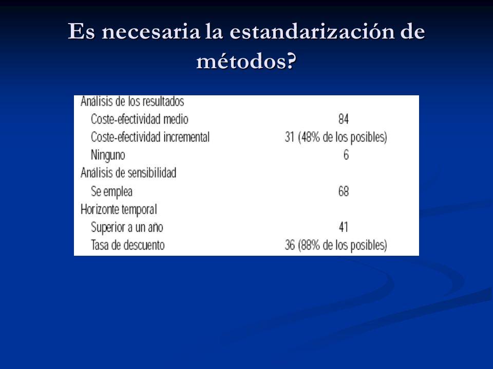 Es necesaria la estandarización de métodos
