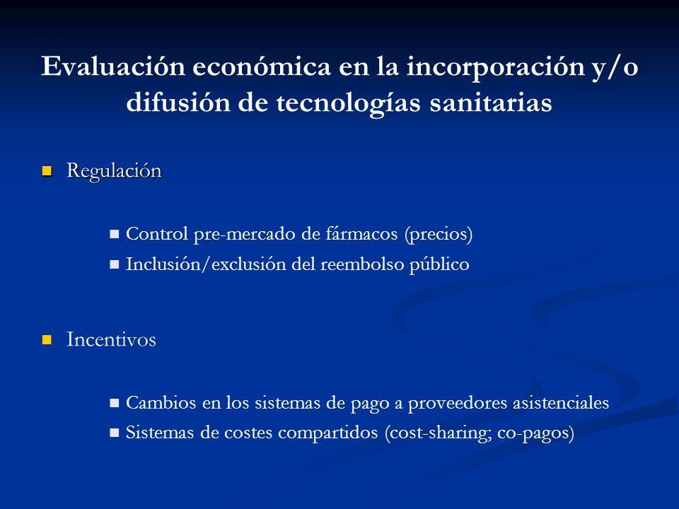 Evaluación económica en la incorporación y/o difusión de tecnologías sanitarias