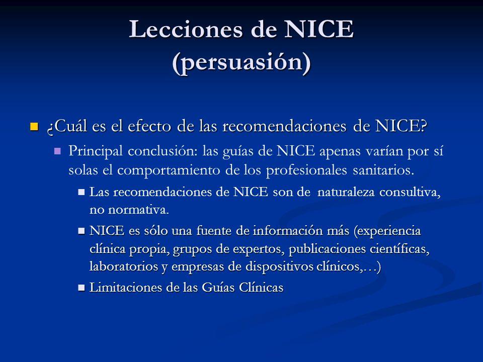 Lecciones de NICE (persuasión)