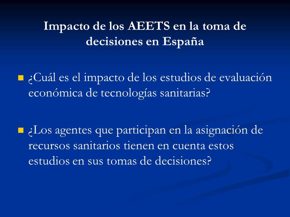 Impacto de los AEETS en la toma de decisiones en España