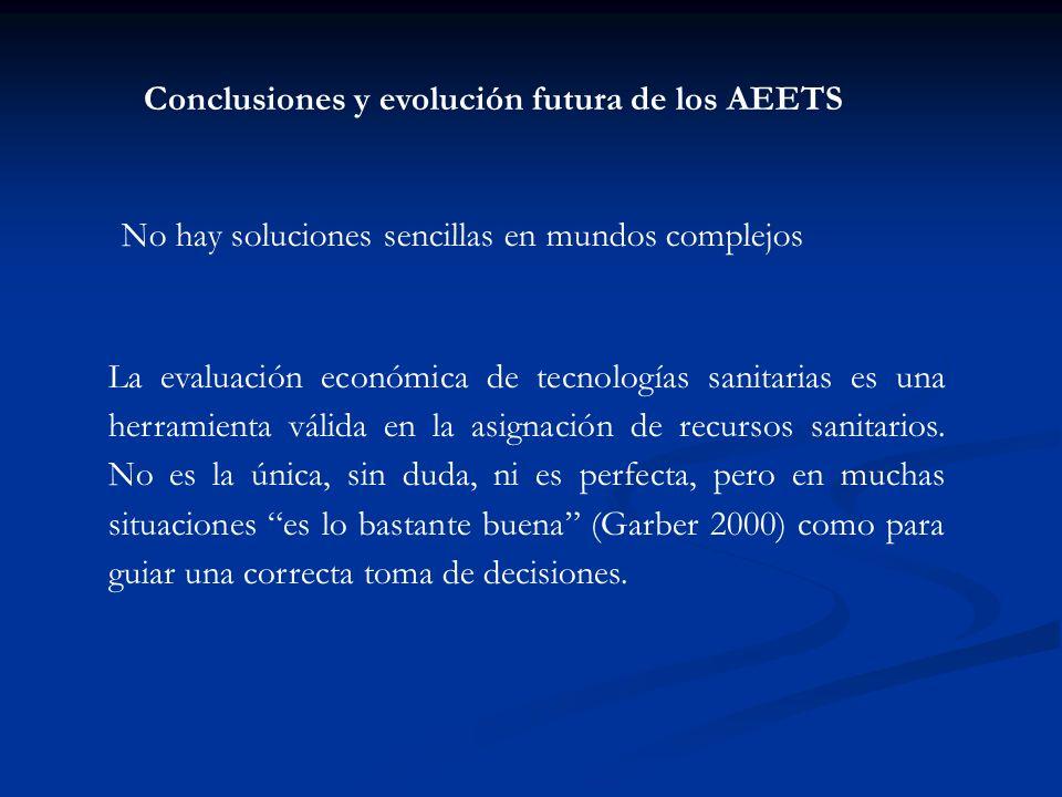Conclusiones y evolución futura de los AEETS