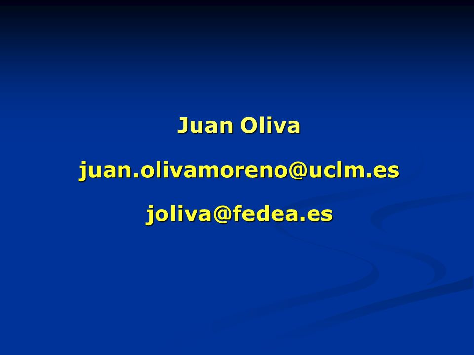 juan.olivamoreno@uclm.es joliva@fedea.es