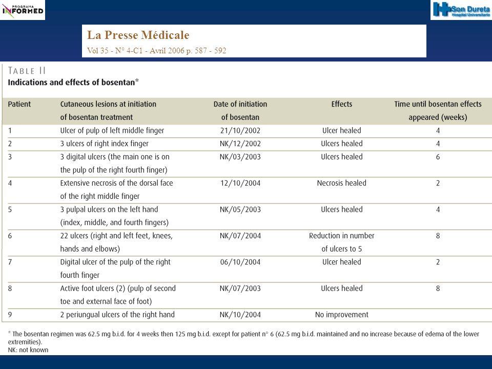 La Presse Médicale Vol 35 - N° 4-C1 - Avril 2006 p. 587 - 592