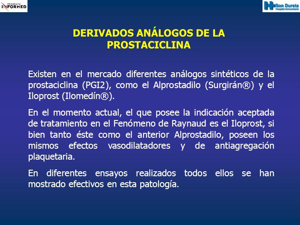 DERIVADOS ANÁLOGOS DE LA PROSTACICLINA