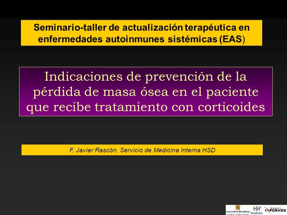 F. Javier Rascón, Servicio de Medicina Interna HSD