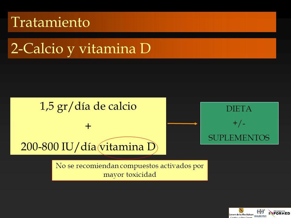 No se recomiendan compuestos activados por mayor toxicidad