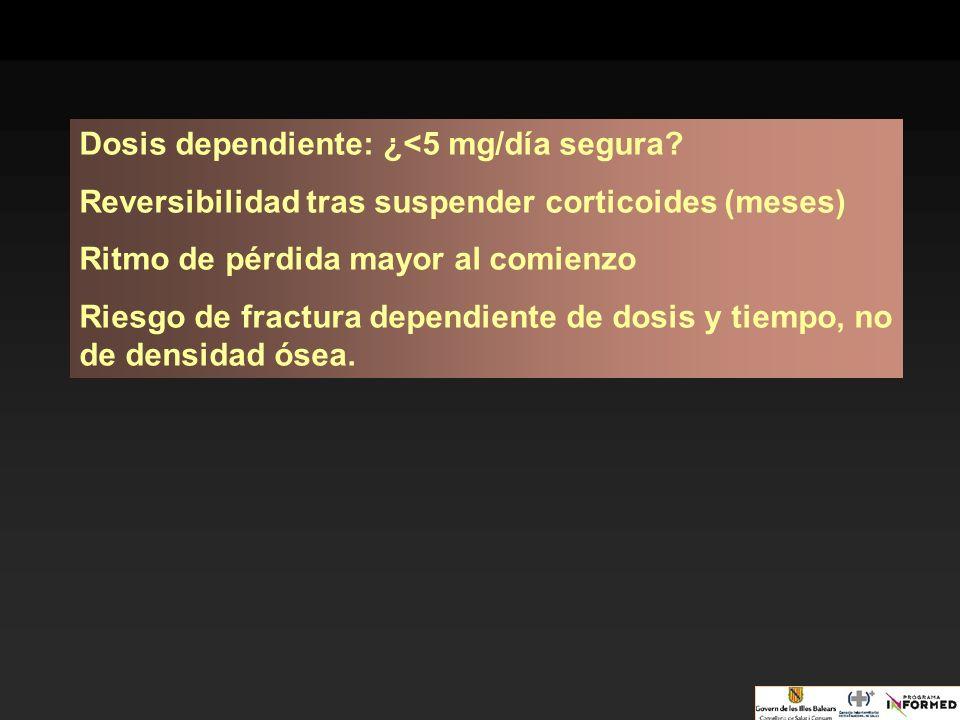 Dosis dependiente: ¿<5 mg/día segura