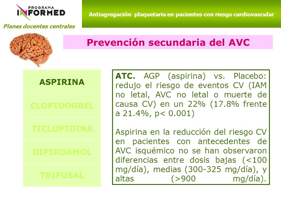 Prevención secundaria del AVC