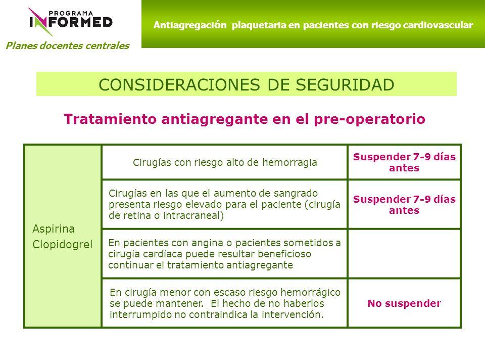 CONSIDERACIONES DE SEGURIDAD